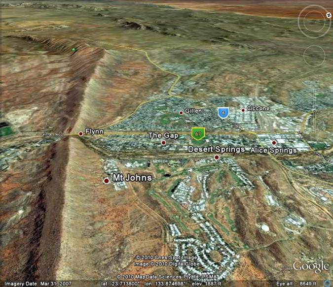 Alice Springs, Australia and the Heavitree Gap