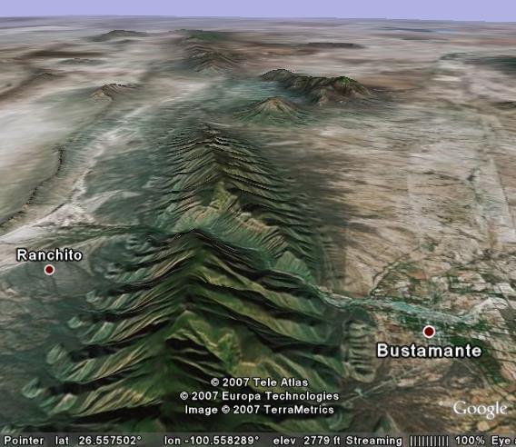 Bustamante Canyon (Canon Bustamante) Mexico
