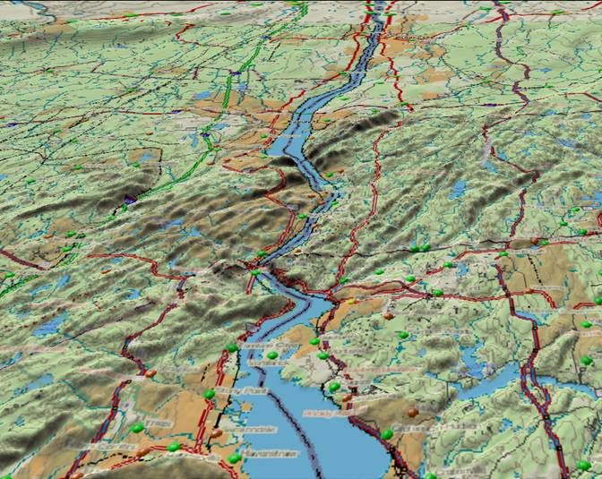 Ancestral Rivers In The Eastern United States - Eastern us topographic map