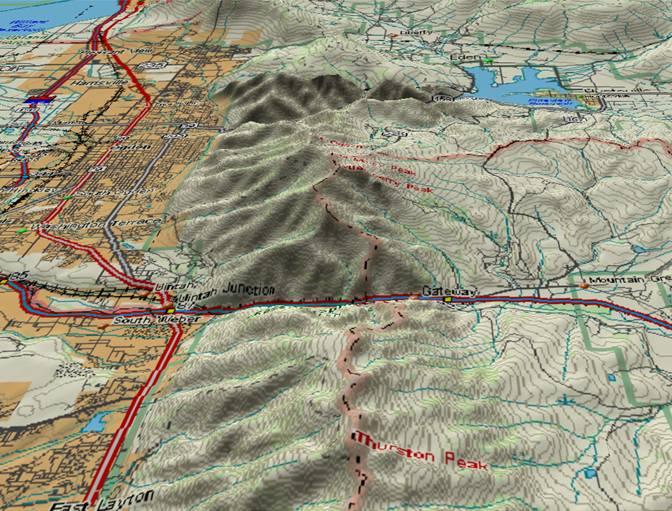 Weber and Ogden Canyons in Utah