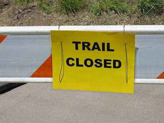 Animas River Trail is closed today