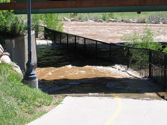 Animas River Trail underneath U. S. Highhway 160