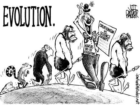 """Evolution"" of                       the Kansas Board of Education"