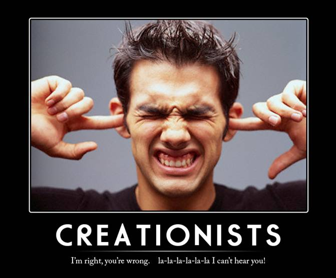 Do you want to known why                   Creationists can't learn anything from scientific                   evidence?