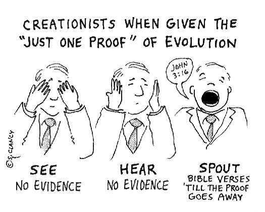 Creationists' reaction to evidence