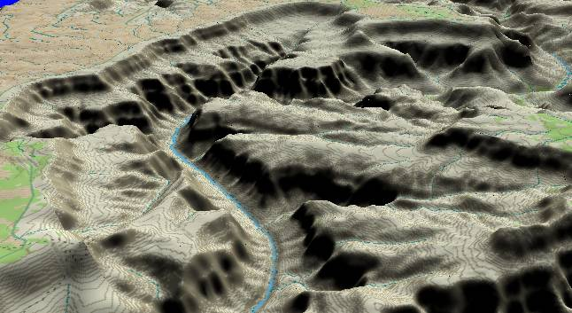 3-D view of the             Grand Canyon - centered at Mile 122