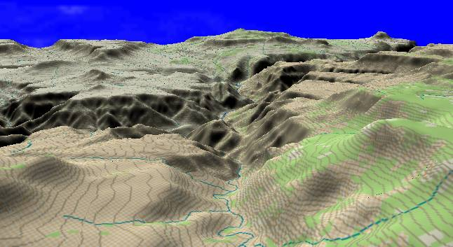 Low angle view along the Hurricane                   Fault illustrates the displacement