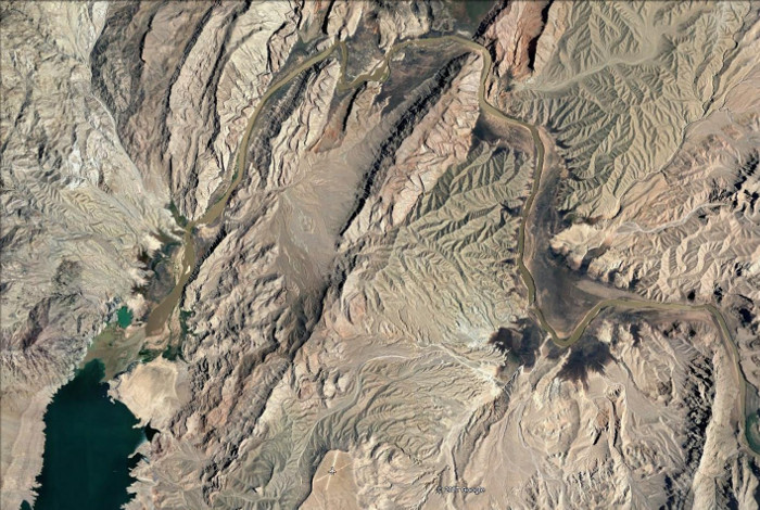 A Google Earth view of Lake Mead's Colorado River Delta           as of June 2017
