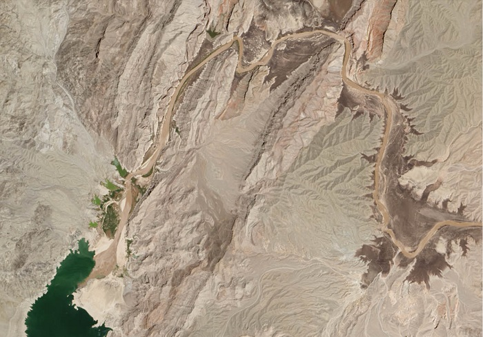 The lower end of the Colorado River as of July 2014.