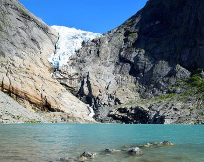 The Briksdal Glacier in 2017