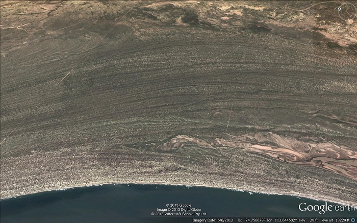A Google Earth view of Eemian beaches.