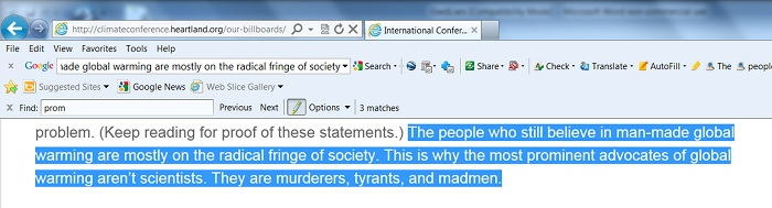 "The ""environment"" at the Heartland Institute is preoccupied with ""murderers, tyrants, and madmen""."