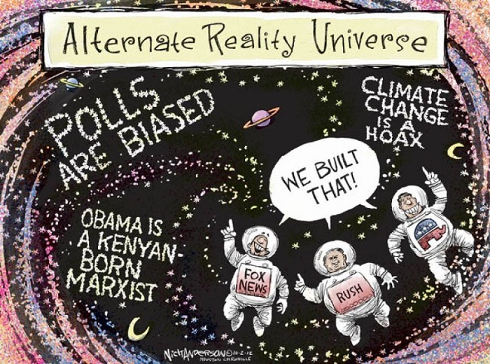 Global Warming Deniers live in an alternate reality
