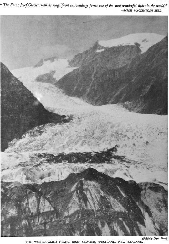 This is what the Franz Josef Glacier looked like in the 1920s.
