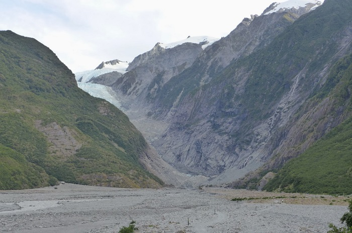 A 2014 photo showing where the Franz Josef Glacier used to be.