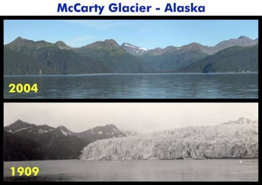 Alaska's McCarty Glacier seems to have melted a tad.