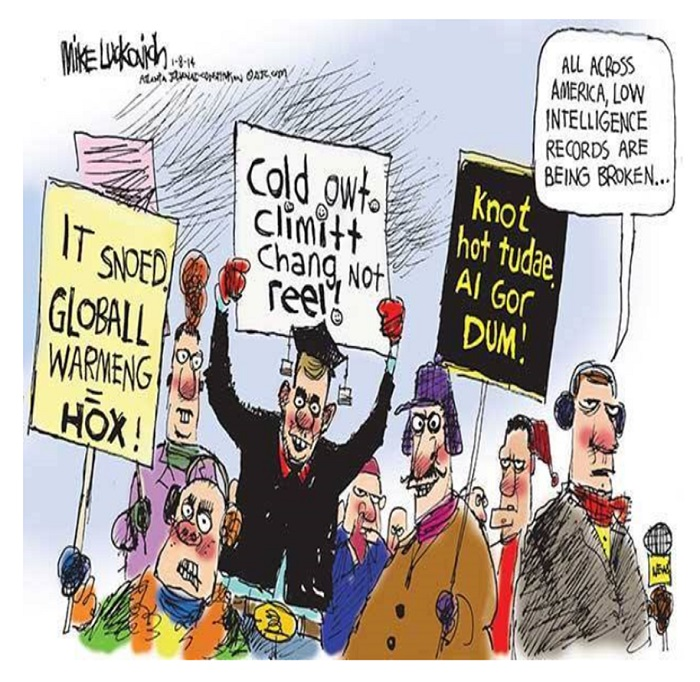 Global Warming Deniers reject           reality.