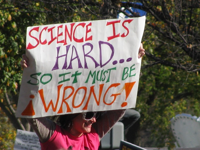 Science is hard, so it must be wrong