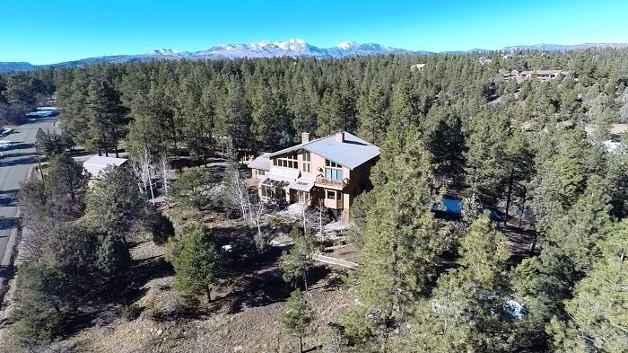The author's home near Durango, CO