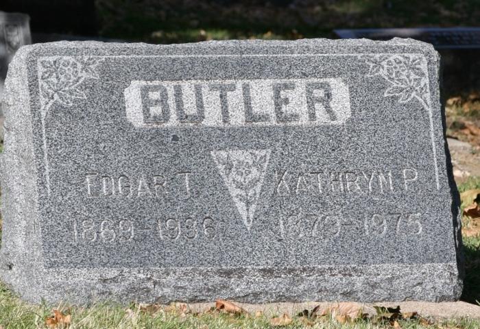 Gravestone for Edgar and Kathyrn Butler
