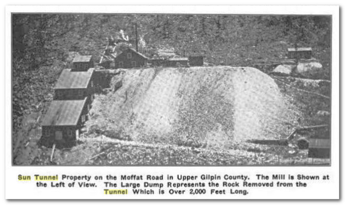 Another old photo of the Golden Sun Mine/Tunnel