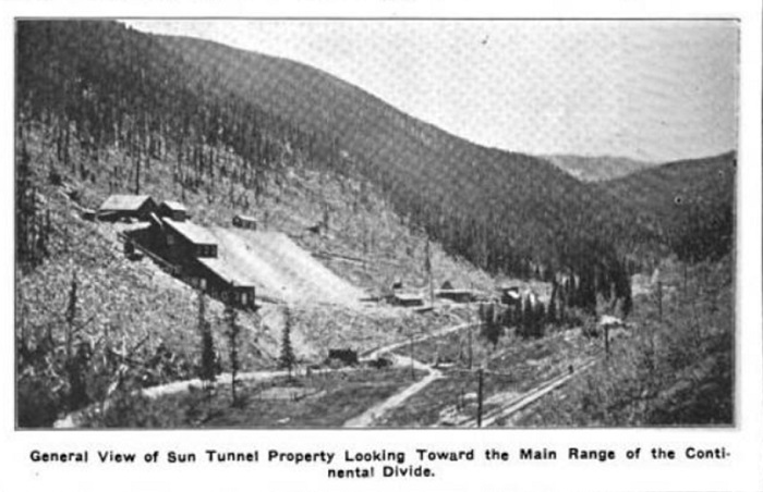 The Golden Sun Mine as shown           in the 1914 article.