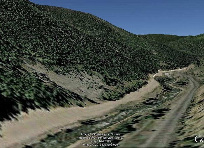 The Golden Sun Mine as seen via Google Earth.