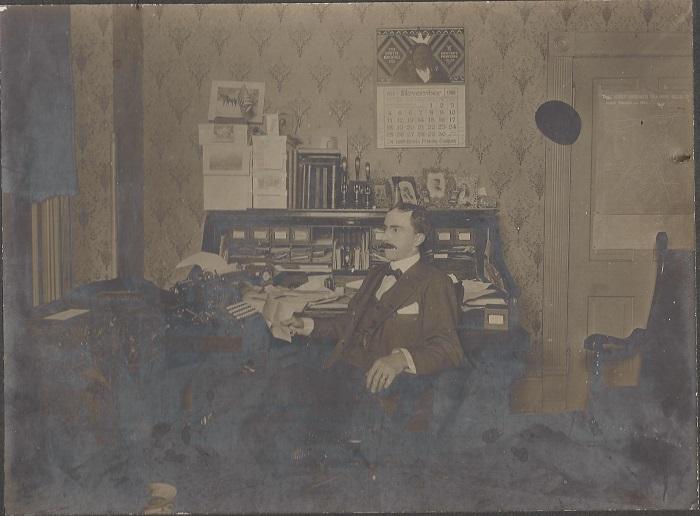 Edgar Butler in his home in Denver, CO.