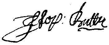 Stephen Butler's signature