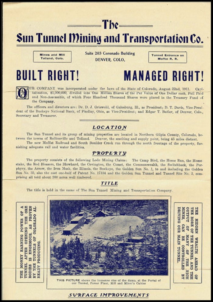 Brochure for the Sun Tunnel.