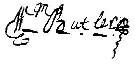 William Butler's signature