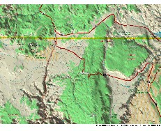 3-D map of the northeastern Grand Canyon area