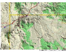 3-D map of the area to the northwest of               the Grand Canyon