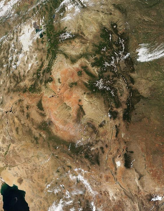 NASA photograph of the Colorado River Basin