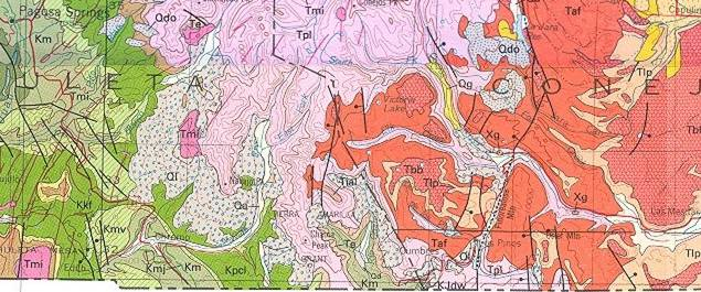 A geologic map of the rockfall area