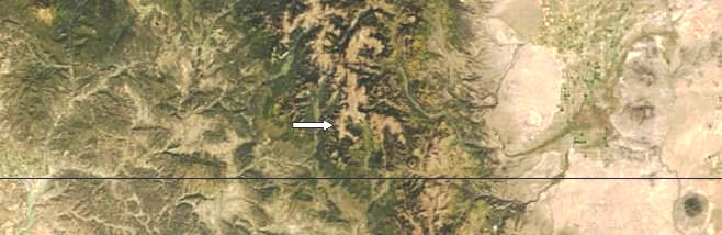 A NASA view of the area before the rockfall.