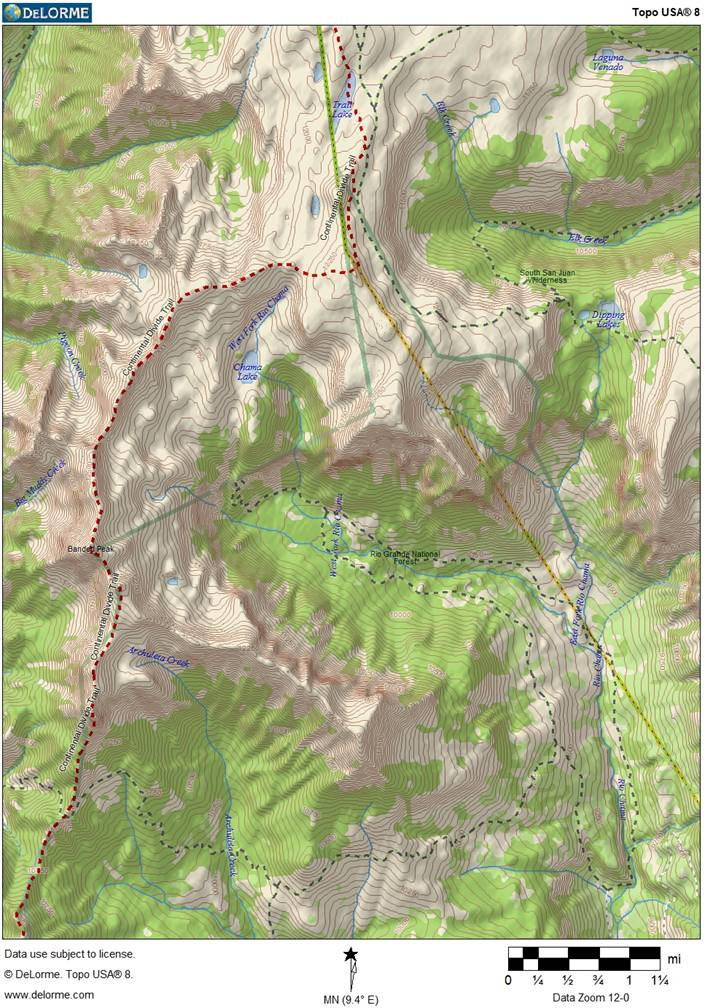 A topographic map of the rockfall area.