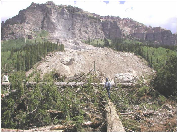A USFS photograph of the Rio Chama rockslide