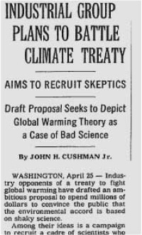 The header for the original article as it appeared in the New York Times.