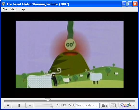 Animated cartoon volcano in the           pseudo-documentary