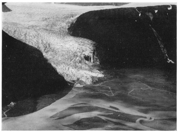 A 1949 view of the Hole-in-the-Wall Glacier