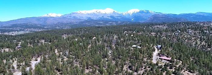 The La           Plata Mountains as seen from above the author's home.